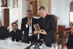Conferencia de Prensa en la Parroquia Nuestra Señora del Carmen en Punta Santiago, Humacao.