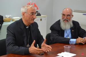 Mons. Ghaleb Moussa Abdallah Bader, Delegado Apostólico de PR habla en la reunión con el Cardenal Cupich  y  los Obispos